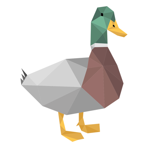 Duck low poly Transparent PNG