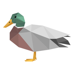 Duck side view lowpoly