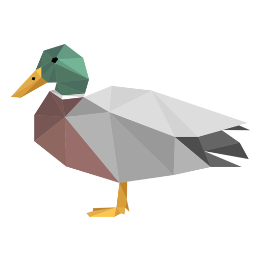 Duck side view lowpoly Transparent PNG
