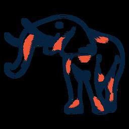 Icono de elefante duotono