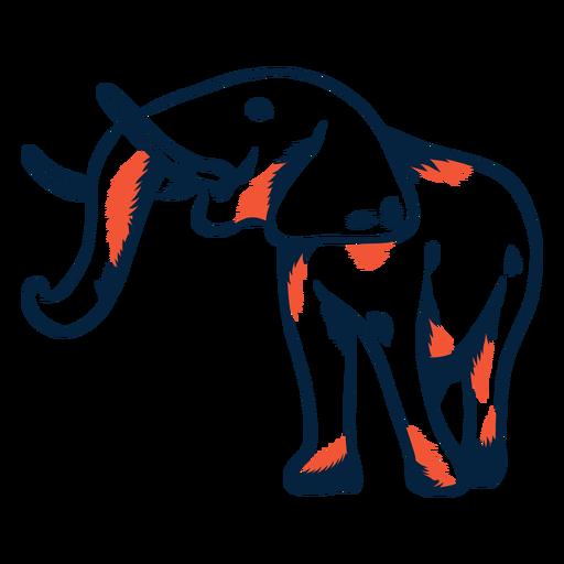 Icono de elefante duotono Transparent PNG