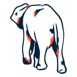 Duotone elephant rear view