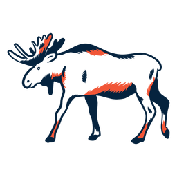 Duotone moose side view