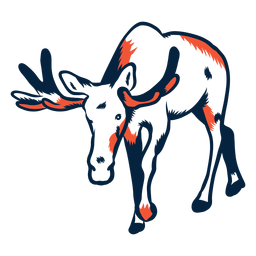 Duotone moose standing