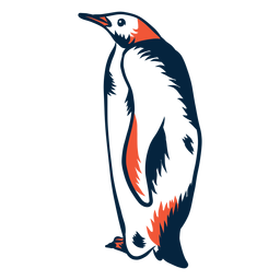 Duotone penguin standing
