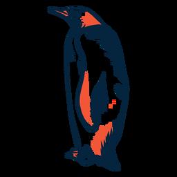 Pingüino duotono de pie
