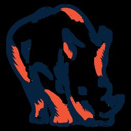 Ilustración de rinoceronte duotono