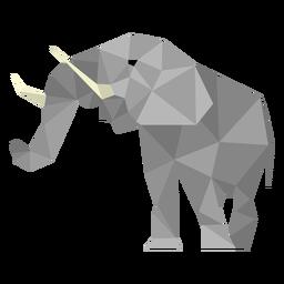 Elefant niedriger Poly