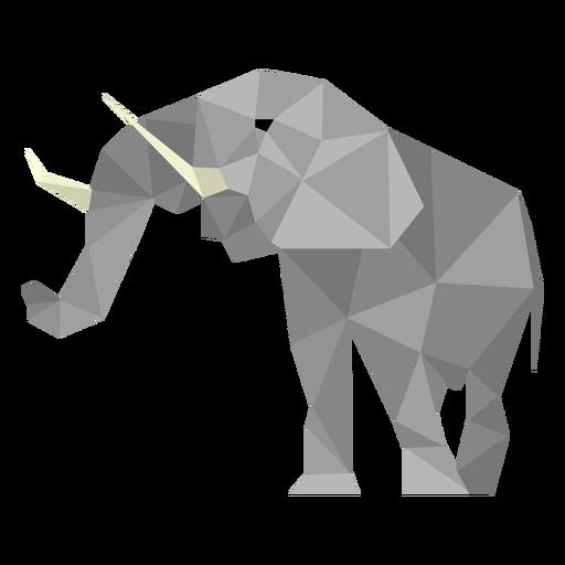Elefant niedriger Poly Transparent PNG