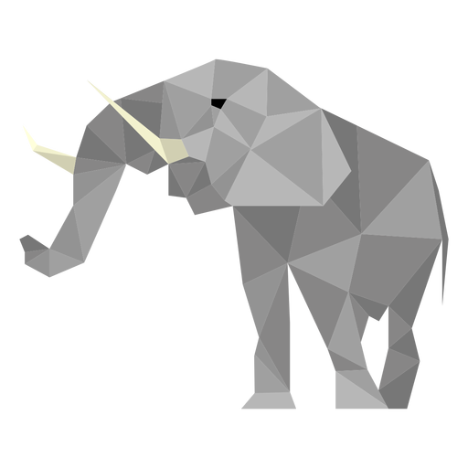 Elephant low poly Transparent PNG