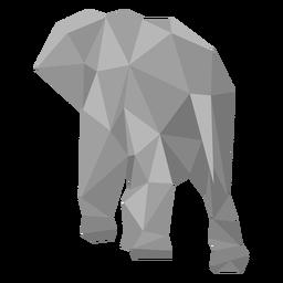 Elefante vista trasera lowpoly