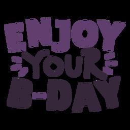 Disfruta tus letras de cumpleaños