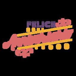 Letras de Felice Anniversario Dots