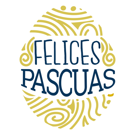 Felices pascuas egg lettering Transparent PNG