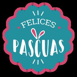 Felices pascuas Hasenohren-Schriftzug