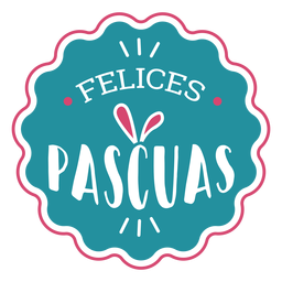 Felices pascuas rabbit ears lettering