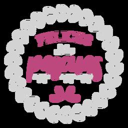 Felices pascuas wreath lettering