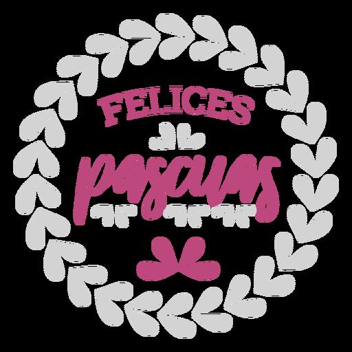 Felices pascuas guirnalda letras Transparent PNG