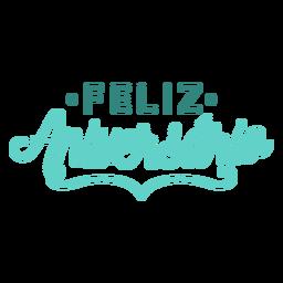 Feliz aniversario lettering letras de aniversário