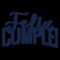 Feliz Cumple-Schriftzug
