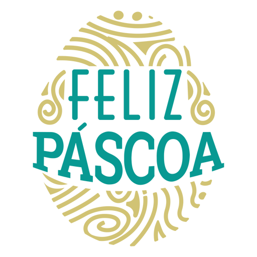 Feliz pascoa egg lettering