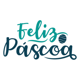 Feliz pascoa handwritten lettering