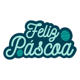 Feliz pascoa lettering