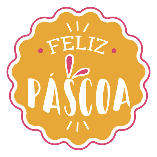Feliz pascoa rabbit ears lettering Transparent PNG