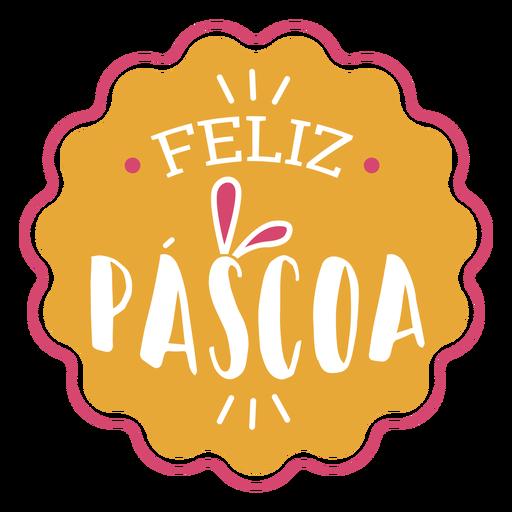 Feliz pascoa rabbit ears lettering