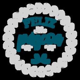 Feliz pascoa wreath lettering