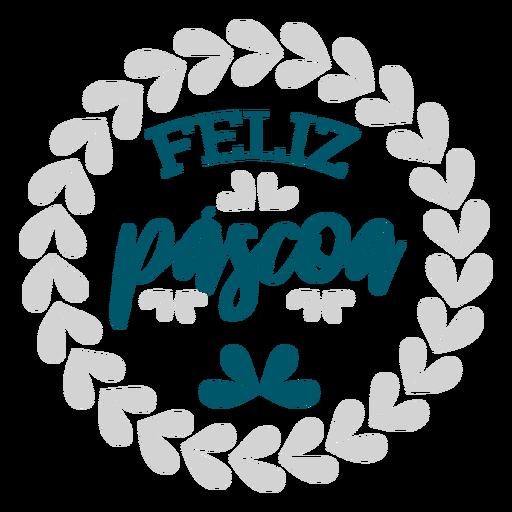 Feliz guirnalda de pascoa letras Transparent PNG