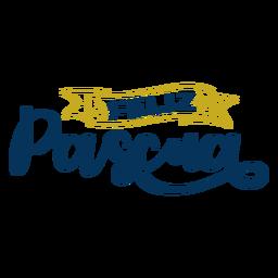Feliz pascua lettering