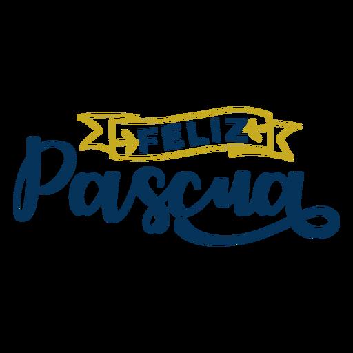 Feliz pascua lettering Transparent PNG