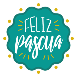 Feliz pascua wavy badge lettering