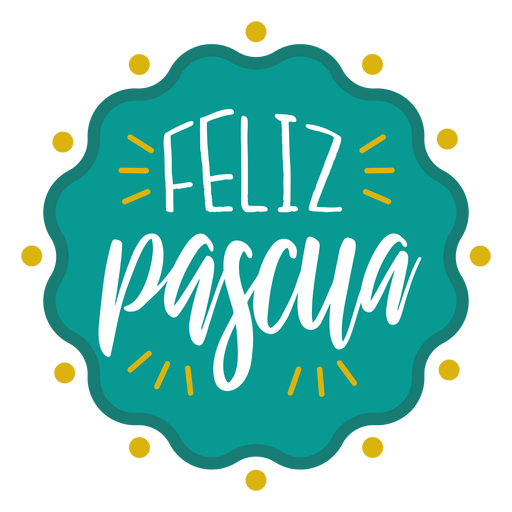 Letras de crachá ondulado de Feliz pascua Transparent PNG