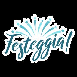 Festeggia star burst lettering