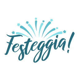 Festeggia Star Burst Schriftzug