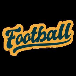 Etiqueta de letras de fútbol