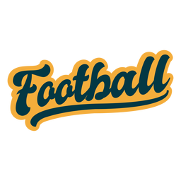 Football lettering sticker