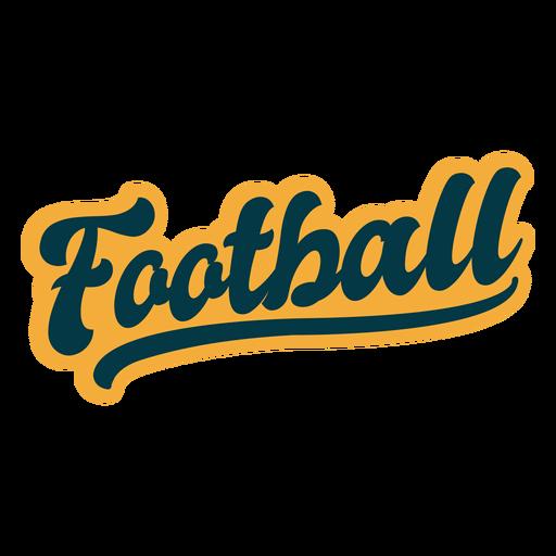 Football lettering sticker Transparent PNG