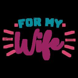 Para mi esposa letras