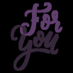 Para você lettering