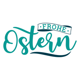 Frohe ostern greeting lettering