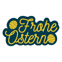 Letras frohe ostern