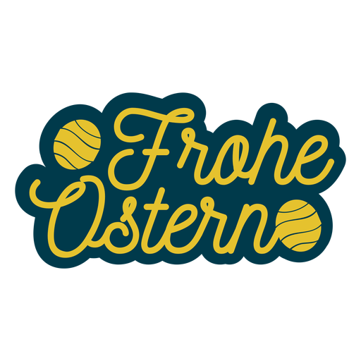 Frohe ostern lettering Transparent PNG