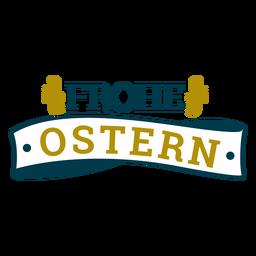 Frohe Ostern Band Schriftzug