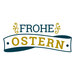 Frohe ostern ribbon lettering