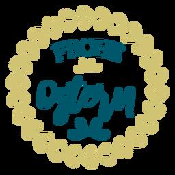 Frohe ostern lettering guirlanda
