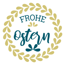 Frohe ostern wreath lettering