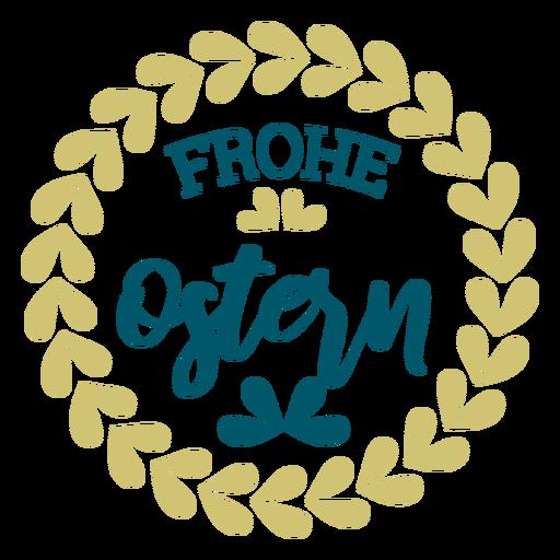 Frohe ostern lettering guirlanda Transparent PNG